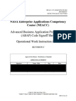 ABAP Code Signoff Sheet