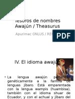 Tesoros de Nombres Awajún