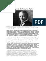 Biografía de Frederick Taylor