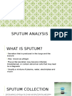 Sputum Analysis