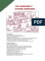 Actos Inseguros y Condiciones Inseguras