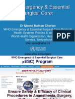 WHO Emergency Essential Surgical Care Cherian 2013