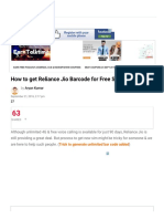 How to get Reliance Jio Barcode for Free Sim Card? | SpyCoupon