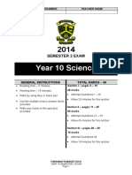 _1446675118_Y10 Science Semester 2 Exam Paper 2014