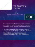 How to Register TIN