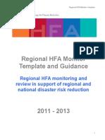 2011 13 Regional HFA Monitor Template ENG