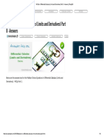 MCQs in Differential Calculus (Limits a..