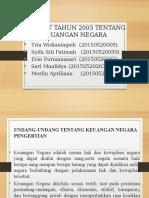 Ppt Uu No 17 Tahun 2003 Tentang Keuangan Negara