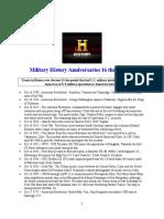 Military History Anniversaries 1016 Thru 103116