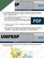 Unifesp 2016 - 2º Dia - Exatas(1)