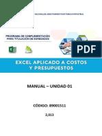Manual Excel CP U1