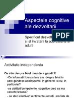 aspecte cognitive ale dezvoltarii