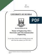 M. E. Electronics and Telecommunication Engg