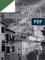 Urban Heritage - Building Maintenance, Foundations