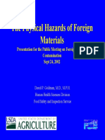 The Physical Hazards of Foreign Materials