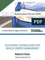 Tecnologie elettroniche per la gestione dell'energia su veicolo