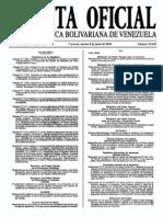 Sumario Gaceta Oficial 39.441