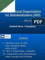 ISO (International Organization Standardization)