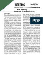 Fan Bearing Maintenance Troubleshooting Fe 1300