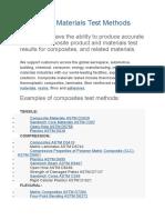 Composite Materials Test Methods