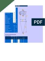Cyclone Efficiency Checking by Standard Efficiency Formula