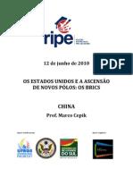 Ripe - 12 de Junho de 2010 - Os Estados Unidos e a Ascensao de Novos Polos - Os Brics - China