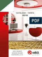 Catalogo Tarifa Orkli 2016