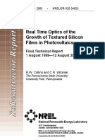 Real time optics of growth of textured silicon films