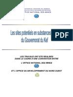Sites potentiels en substances utiles (Tunis°