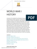 World War I History - World War I - HISTORY