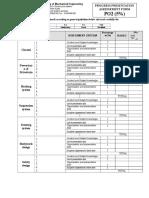 MEC531 - Progress Presentation Assessement Form