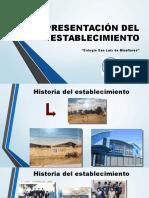 Presentación Del Establecimiento Agencia de Calidad