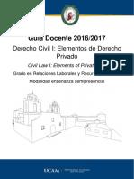 Derecho Civil i Elementos de Derecho Privado 16-17