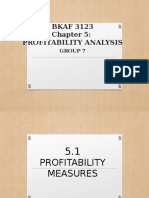CHAPTER 5 Profitability Analysis