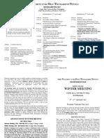 2017 Winter Meeting Programme