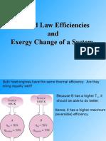 2 Law and Exergy Change