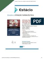 Ciências Farmacêuticas - Farmácia Clínica e Atenção Farmacêutica