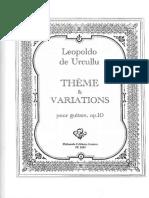 De Urcullu Leopoldo Theme Variations Op 10