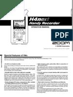 Manual Zoom H4n