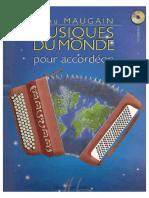 Spartiti Fisarmonica Musiques Du Monde Puor Accordeon