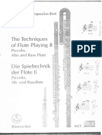 Levine, Carin - Techniques of Flute Playing - II (English - German)