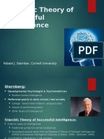 Sternberg's Triarchic Theory of Successful Intelligence - Lade, Lloyd (1)