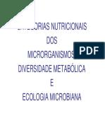 8 e 9 Nutricao Diversidade Metabolica