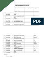 Contoh Jadual Pelatihan Audit Internal