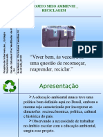 Apresentação reciclagem