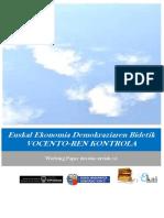 Euskal Ekonomia Demokraziaren Bidetik. VOCENTOREN KONTROLA