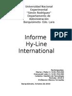 Hy Line (Informe)