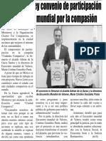 15-10-16 Firma Monterrey convenio de participación en la campaña mundial por la compasión