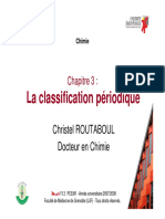la classification periodique