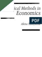 [Akira Takayama] Analytical Methods in Economics